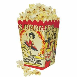 Full Color Small Scoop Style Popcorn Box